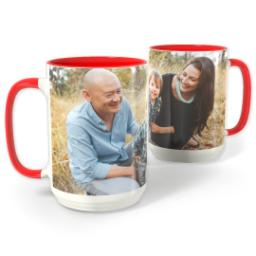 Thumbnail for Red Photo Mug, 15oz with Full Photo design 1