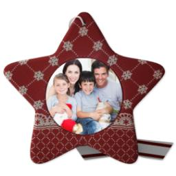 Thumbnail for Sculpted Photo Ornament - Star with Full Photo design 1