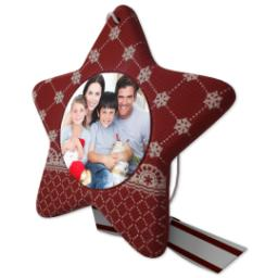 Thumbnail for Sculpted Photo Ornament - Star with Full Photo design 2
