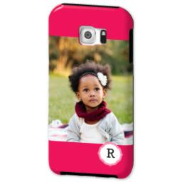 Thumbnail for Samsung Galaxy S6 Tough Case with Girly Pink Monogram design 2