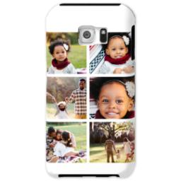 Thumbnail for Samsung Galaxy S6 Tough Case with Gallery White Collage for 6 design 1