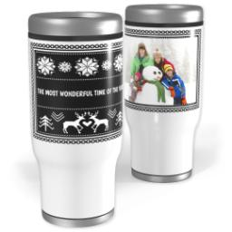Thumbnail for Stainless Steel Tumbler, 13oz with Custom Color Sweater design 1