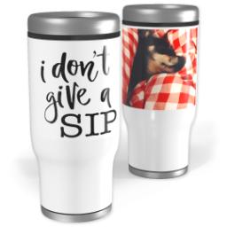 Thumbnail for Stainless Steel Tumbler, 13oz with Give A Sip design 1