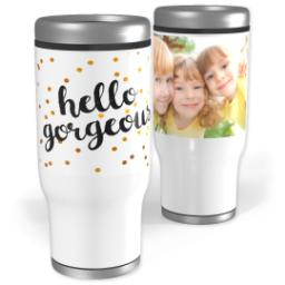 Thumbnail for Stainless Steel Tumbler, 13oz with Gorgeous Glitter design 1