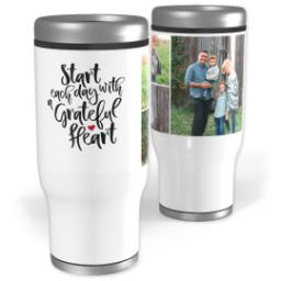 Thumbnail for Stainless Steel Tumbler, 14oz with Grateful Heart design 1