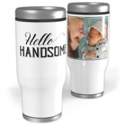 Thumbnail for Stainless Steel Tumbler, 14oz with Hello Handsome design 1