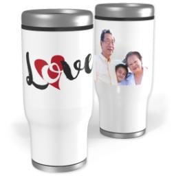 Thumbnail for Stainless Steel Tumbler, 13oz with Love Hearts design 1