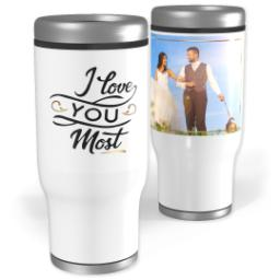 Thumbnail for Stainless Steel Tumbler, 14oz with Love You Most design 1