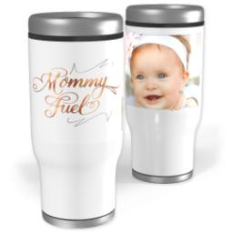 Thumbnail for Stainless Steel Tumbler, 14oz with Mommy Fuel design 1