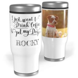 Thumbnail for Stainless Steel Tumbler, 13oz with Pet My Dog design 1