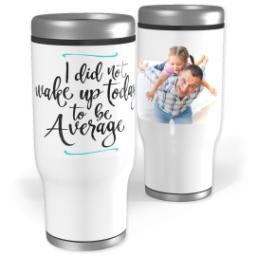 Thumbnail for Stainless Steel Tumbler, 13oz with Wake Up design 1