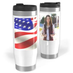 Thumbnail for Premium Tumbler Photo Travel Mug, 14oz with American Flag design 1