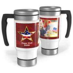Thumbnail for Stainless Steel Photo Travel Mug, 14oz with American Star design 1