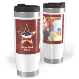 Thumbnail for Premium Tumbler Photo Travel Mug, 14oz with American Star design 1
