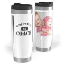 Thumbnail for Premium Tumbler Photo Travel Mug, 14oz with Best Coach Black design 1