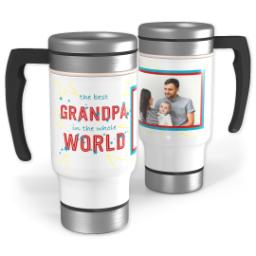 Thumbnail for Stainless Steel Photo Travel Mug, 14oz with Best Grandpa In The World design 1