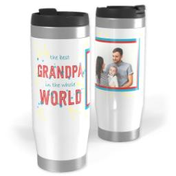 Thumbnail for Premium Tumbler Photo Travel Mug, 14oz with Best Grandpa In The World design 1