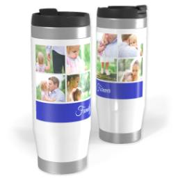 Thumbnail for Premium Tumbler Photo Travel Mug, 14oz with Blue Bar design 1