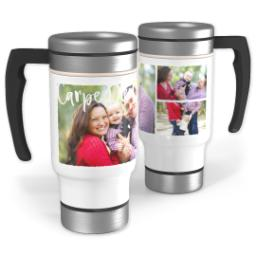 Thumbnail for Stainless Steel Photo Travel Mug, 14oz with Carpe Diem design 1
