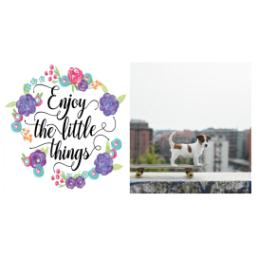 Thumbnail for Premium Tumbler Photo Travel Mug, 14oz with Enjoy Little Things Bouquet design 2
