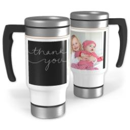 Thumbnail for Stainless Steel Photo Travel Mug, 14oz with Flowing Gratitude design 1