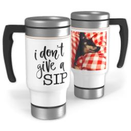 Thumbnail for Stainless Steel Photo Travel Mug, 14oz with Give A Sip design 1