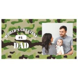 Thumbnail for Premium Tumbler Photo Travel Mug, 14oz with Greatest Dad Camo design 2