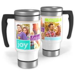 Thumbnail for Stainless Steel Photo Travel Mug, 14oz with Joy And Laughter design 1