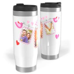 Thumbnail for Premium Tumbler Photo Travel Mug, 14oz with Love Birds design 1