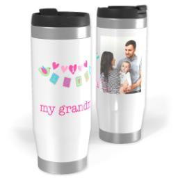Thumbnail for Premium Tumbler Photo Travel Mug, 14oz with Love Birds Grandma design 1