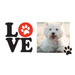 Thumbnail for Premium Tumbler Photo Travel Mug, 14oz with Love Paws design 2