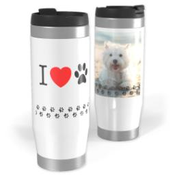 Thumbnail for Premium Tumbler Photo Travel Mug, 14oz with Love Pets design 1