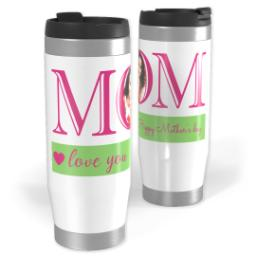 Thumbnail for Premium Tumbler Photo Travel Mug, 14oz with Mom Love You design 1