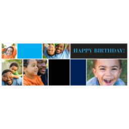 Thumbnail for 2x6 Photo Banner with Cool B-day Mosaic design 1