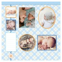 Thumbnail for Scrapbook Pages, 8x8 with Baby Boy Plaid Companion 1 design 1