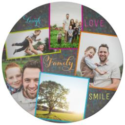 Thumbnail for 10x10 Melamine Photo Plate with Colorful Family Chalkboard design 1