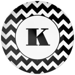 Thumbnail for 10x10 Melamine Photo Plate with Custom Color Chevron design 1