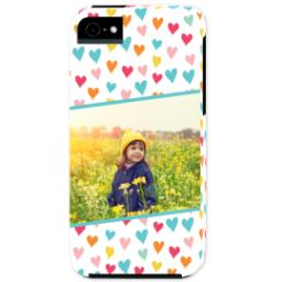 Thumbnail for iPhone 5 Custom Photo Case-Mate Tough Case with Hearts design 1