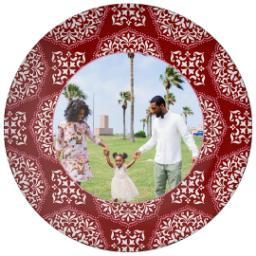 Thumbnail for 10x10 Melamine Photo Plate with Red Medallions Border design 1