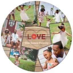 Thumbnail for 10x10 Melamine Photo Plate with Rustic Love design 1