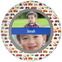Thumbnail for 10x10 Melamine Photo Plate with Trucks design 1