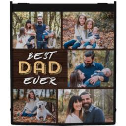 Thumbnail for Reusable Grocery Bag with Best Dad Collage design 1
