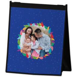 Thumbnail for Reusable Grocery Bag with Colorful Wreath design 2