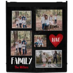 Thumbnail for Reusable Grocery Bag with Family Love design 1