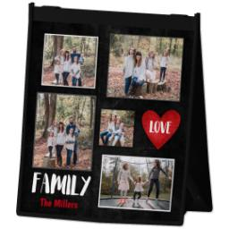 Thumbnail for Reusable Grocery Bag with Family Love design 2