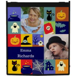 Thumbnail for Reusable Grocery Bag with Halloween Blocks design 1
