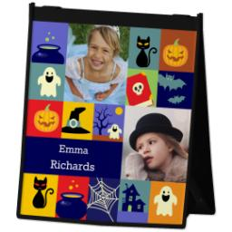 Thumbnail for Reusable Grocery Bag with Halloween Blocks design 2