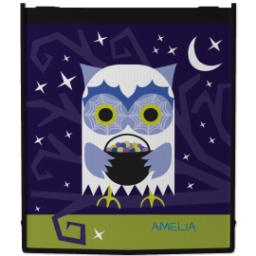 Thumbnail for Reusable Grocery Bag with Halloween Owl design 1