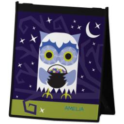 Thumbnail for Reusable Grocery Bag with Halloween Owl design 2