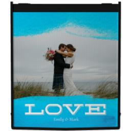 Thumbnail for Reusable Grocery Bag with Love Dip Dye design 1